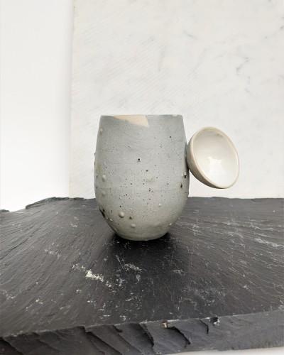 Green clay mug No. 1
