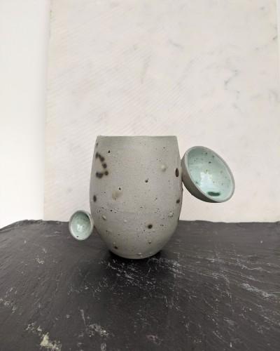 Green clay mug No. 2